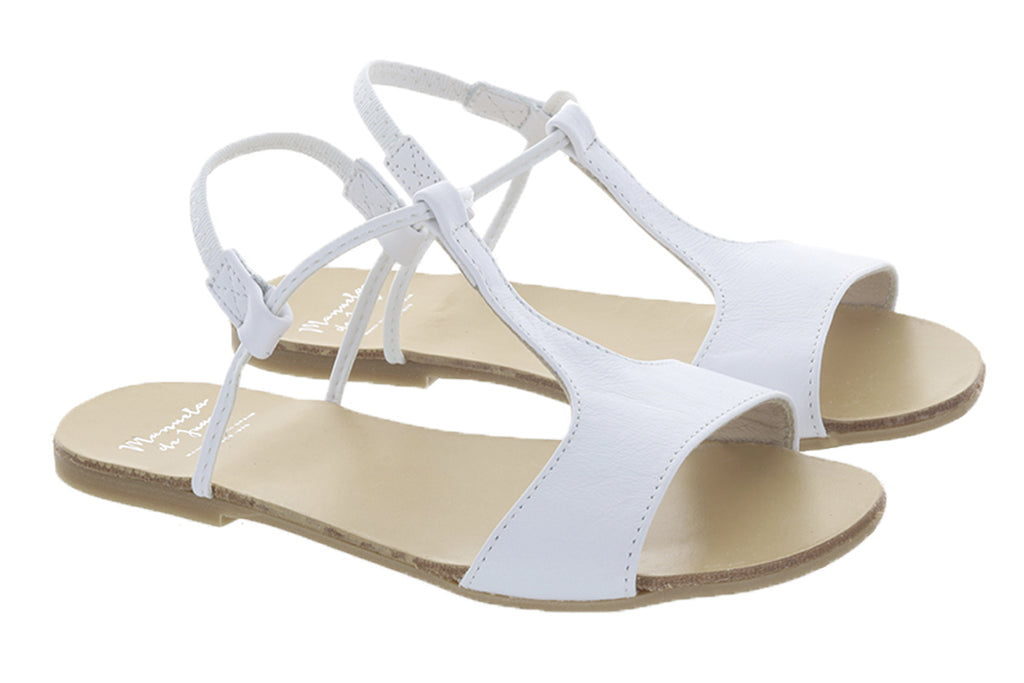 Manuela De Juan Mikonos Sandal White - Kids Kicks Pty Ltd