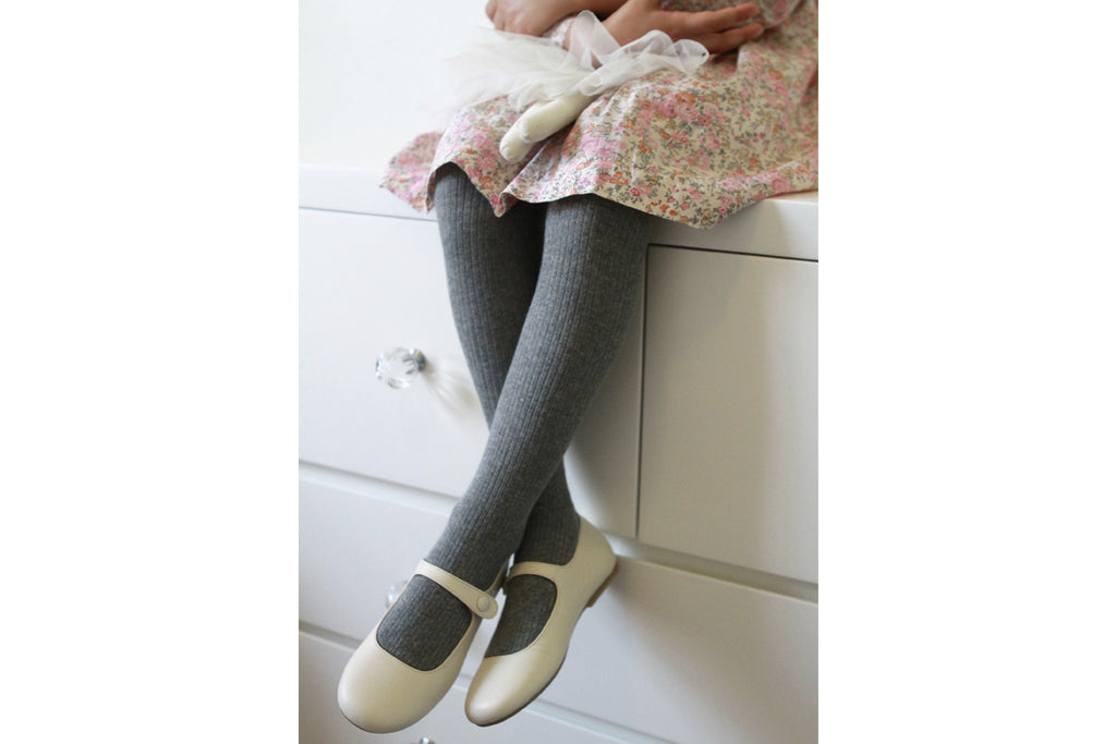 Thin Rib Stockings Grey - Kids Kicks Pty Ltd