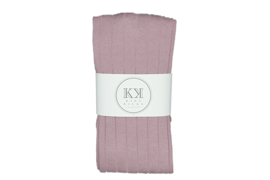 Wide Rib Stockings Ash Rose - Kids Kicks Pty Ltd