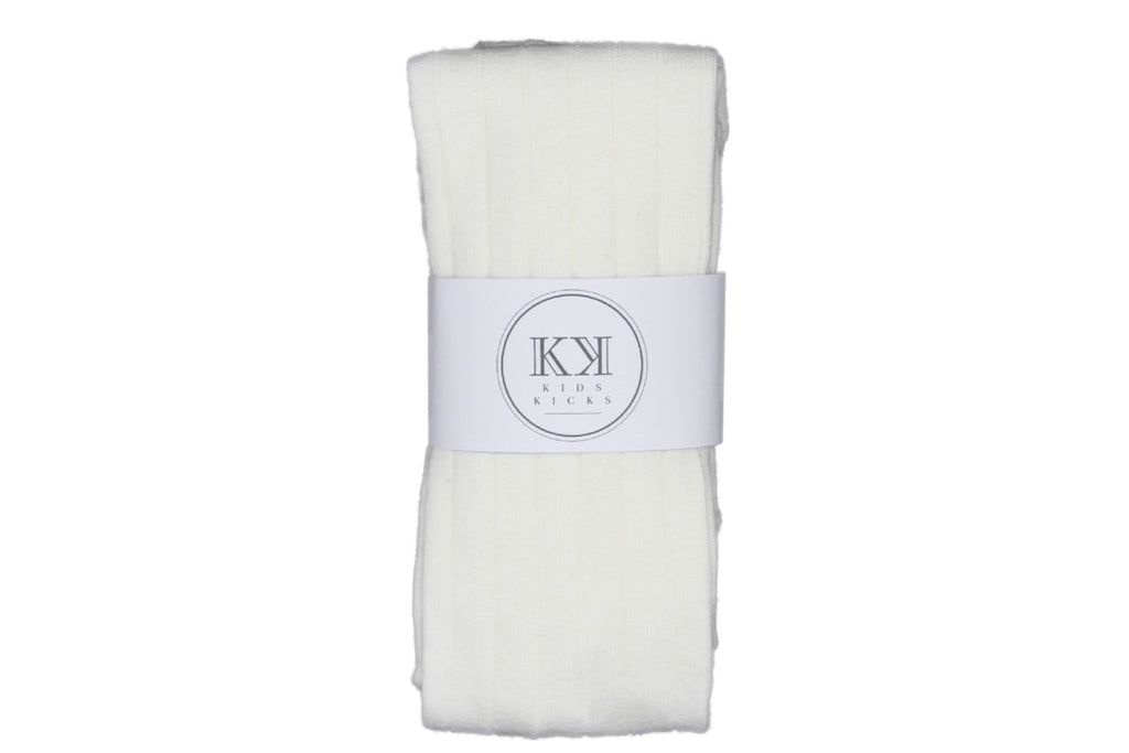 Wide Rib Stockings Cream - Kids Kicks Pty Ltd