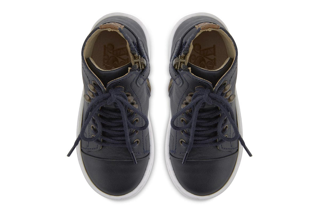 Young Soles Henry Boots Dark Navy - Kids Kicks Pty Ltd