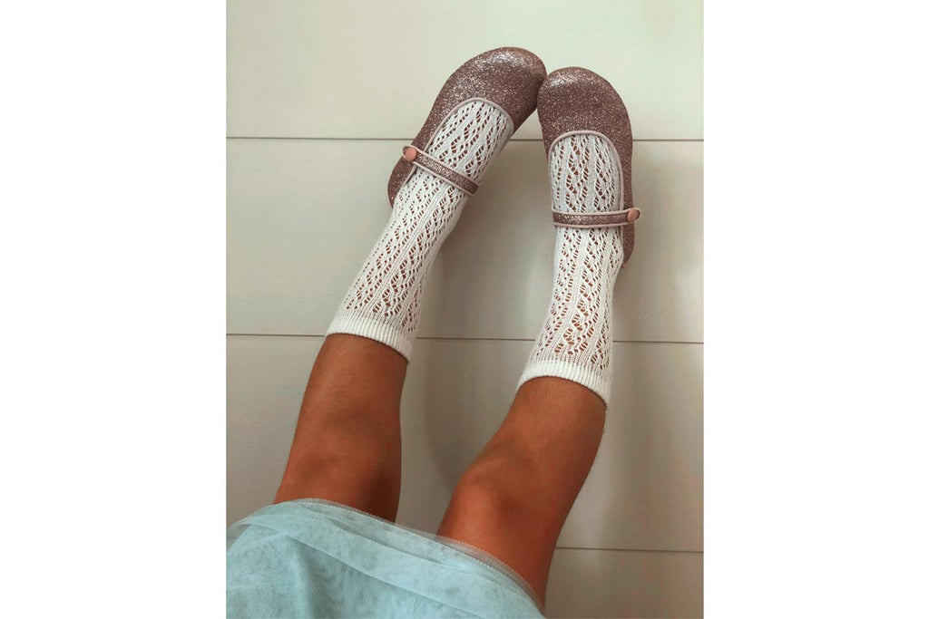 Openwork Socks White