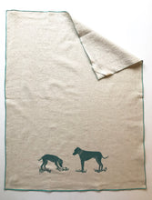 Load image into Gallery viewer, Two Dogs Block Printed Handmade Tea Towel-100% cotton kitchen towel