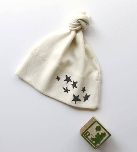 Stars Organic Cotton Tie Hat for Infants