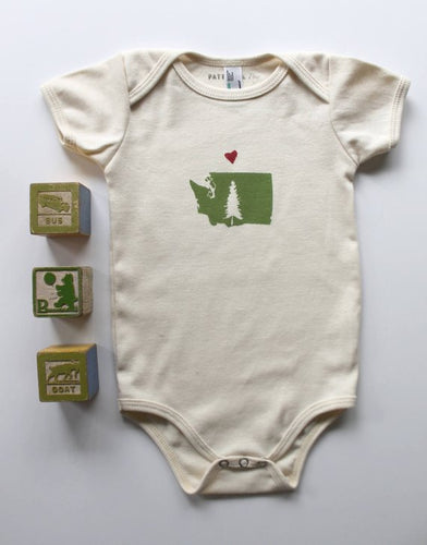 With Love from WA Organic Cotton Infant One Piece Bodysuit