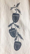 Load image into Gallery viewer, Sleigh Bells Block Printed Flour Sack Towel-100% cotton
