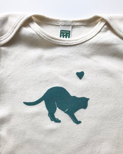 Cat Organic Cotton Infant One Piece Bodysuit
