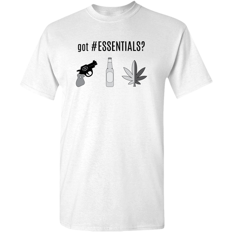 Image of got #ESSENTIALS? greyscale graphic, unisex t-shirt