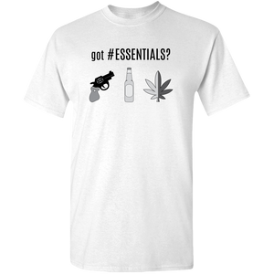 got #ESSENTIALS? greyscale graphic, unisex t-shirt