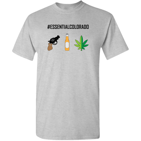 #ESSENTIALCOLORADO, color design, unisex t-shirt