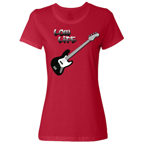 Image of The Low Life T-Shirt for Electric Bass, Ladies Classic Style