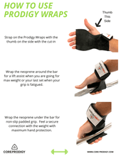 Core Prodigy Wrist Wraps Directions For Use