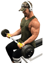 Curl Bar Bicep Exercise with the Fit Grips Thickeners