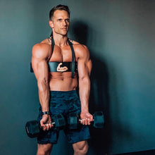 Cannon Curl Arm Blaster with Dumbbells