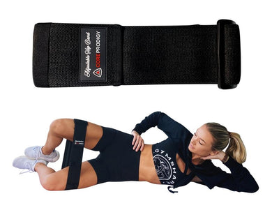 Adjustable Hip Booty Butt Band Circle Black by Core Prodigy