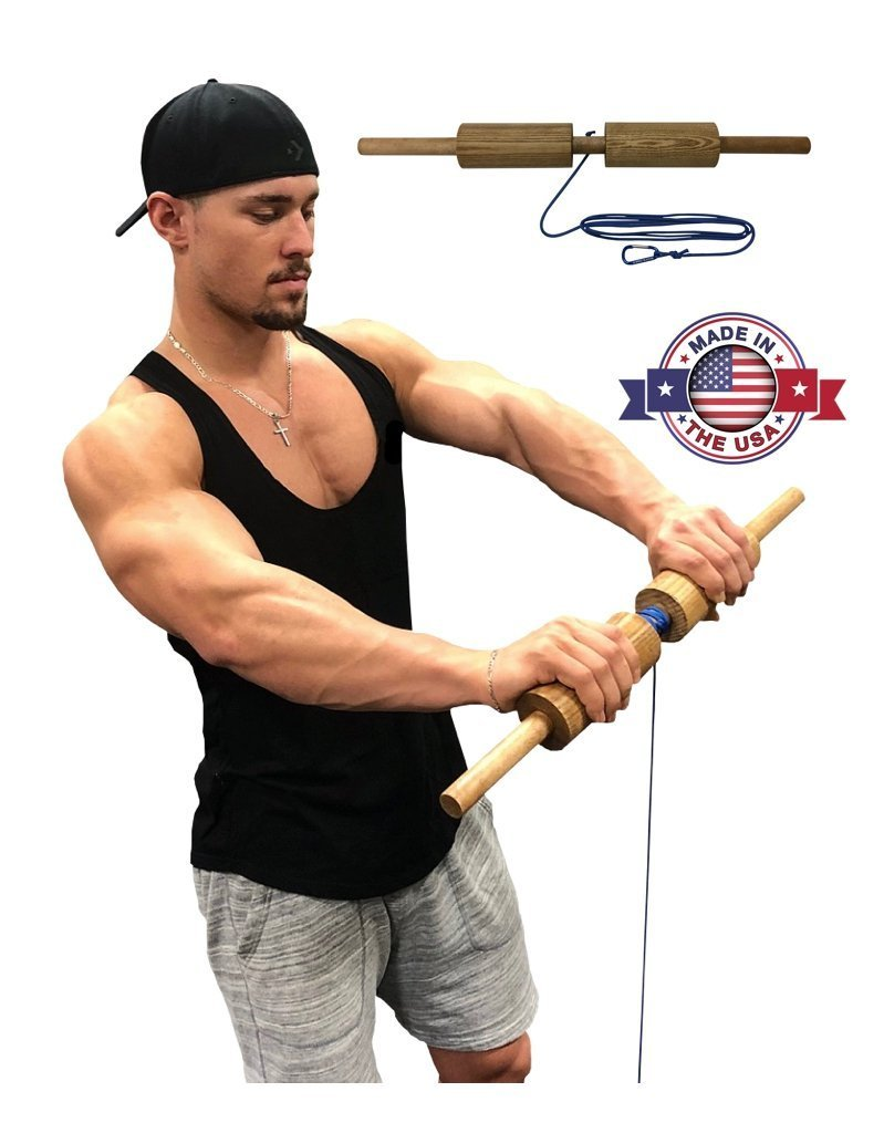 WRIST & FOREARM - Wrist roller exercise to quickly improve your grip strength and endurance.