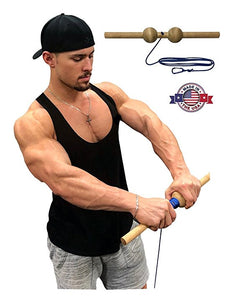 Wrist Blaster - Forearm, Hand and Wrist Roller Exercise (multiple variations)