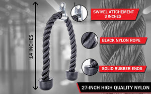 Tricep Pull Down Rope Gym Attachment - Core Prodigy