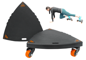 Core Coaster Variations - Ab Rolling Sliders with Wheels - Core Prodigy