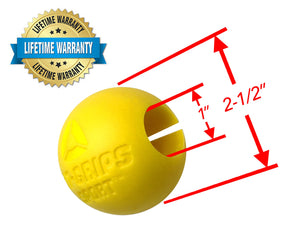 Fit Grips Sport Yellow Ball Sphere Round Gripz Fat Dimensions