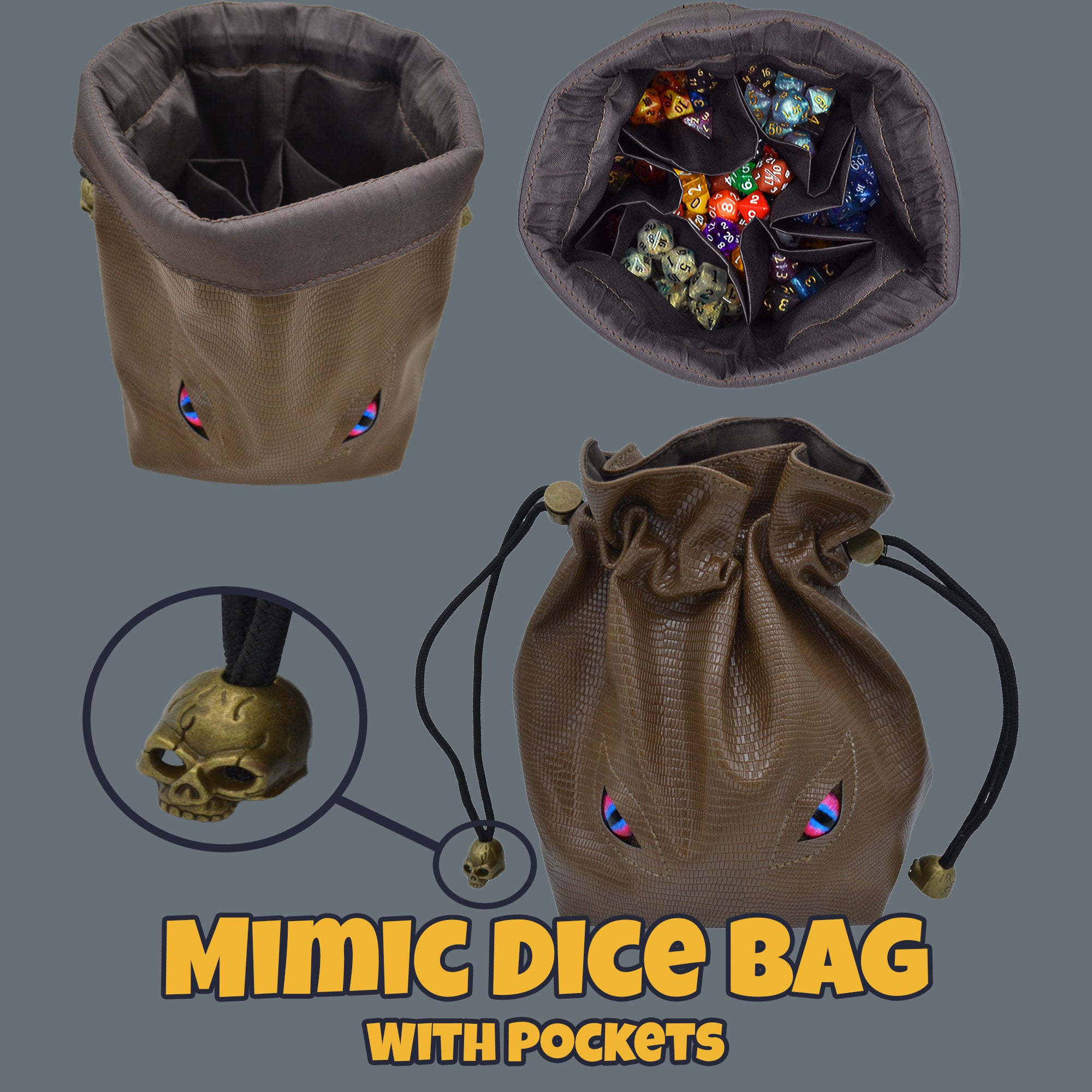 dice bag with pockets
