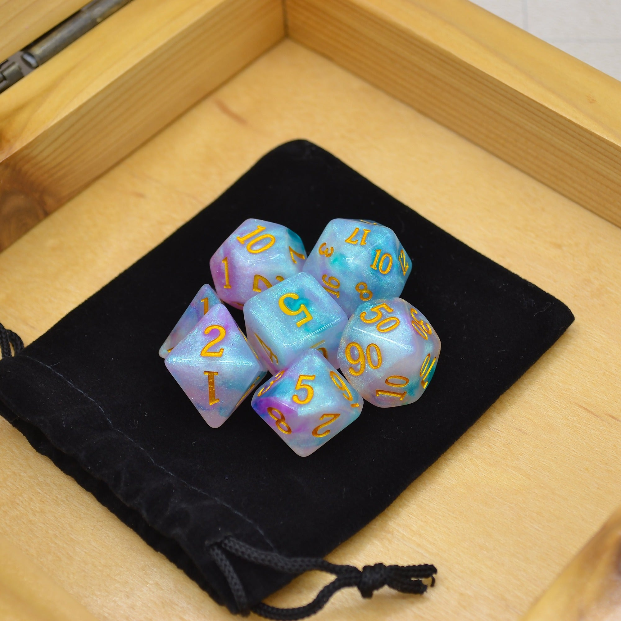 Oberon's Focus Polyhedral Dice Set - 7 Dice Total - Wildbot3d
