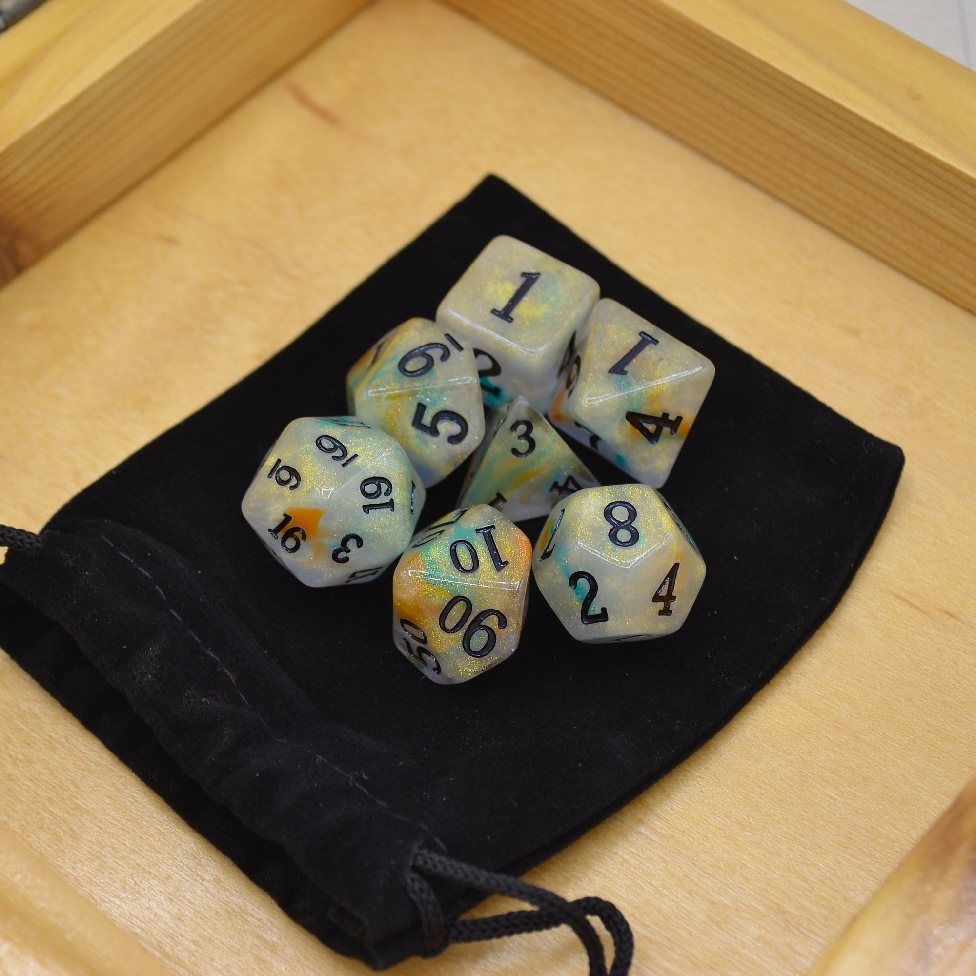 Oberon's Crown Polyhedral Dice Set - 7 Dice Total - Wildbot3d