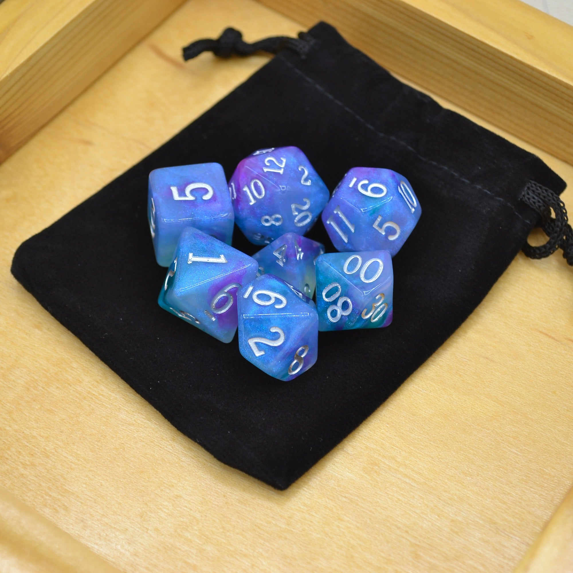 Oberon's Gaze Polyhedral Dice Set - 7 Dice Total - Wildbot3d