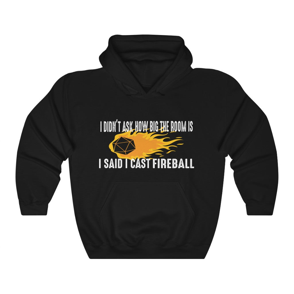 DnD Wizard Hoodie - I  Cast Fireball - Unisex Heavy Blend Hooded Sweatshirt - Wildbot3d