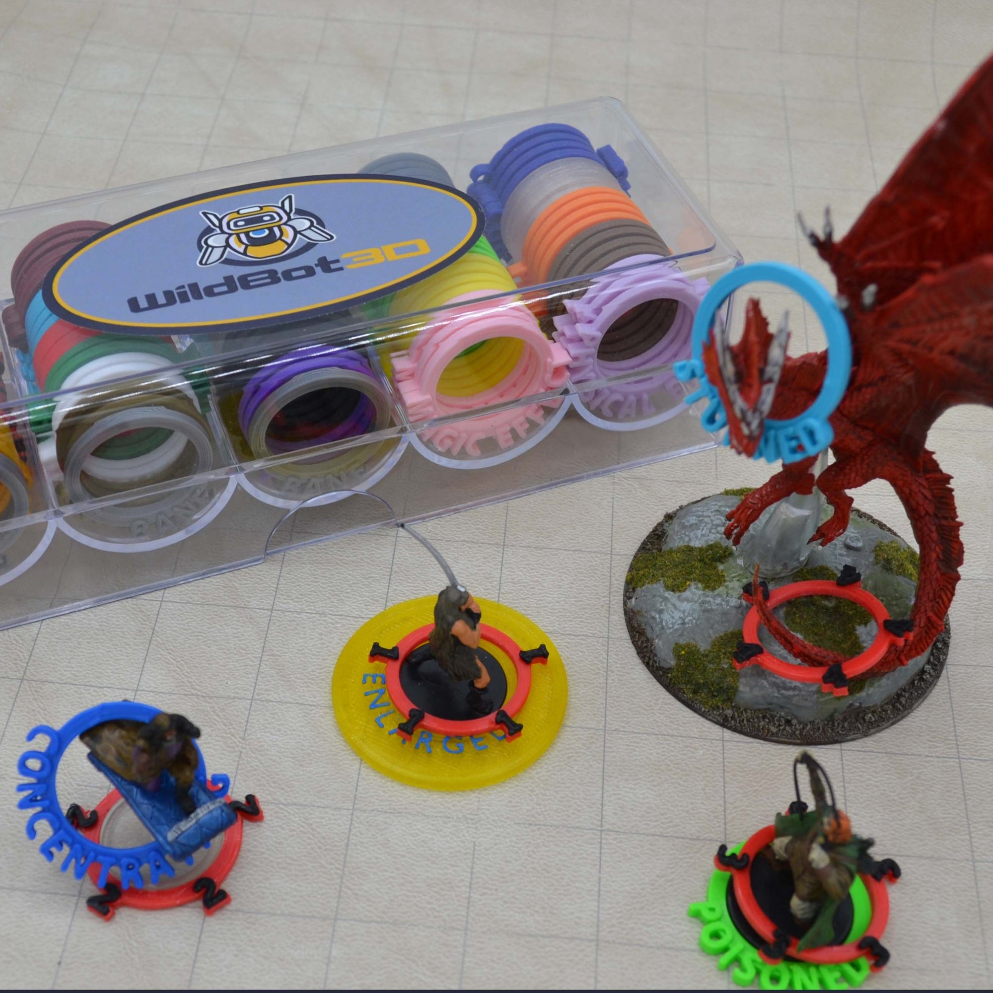 *Limited Edition* Dungeons and Dragons 5e Condition + Initiative Rings: Master's Set - Wildbot3d