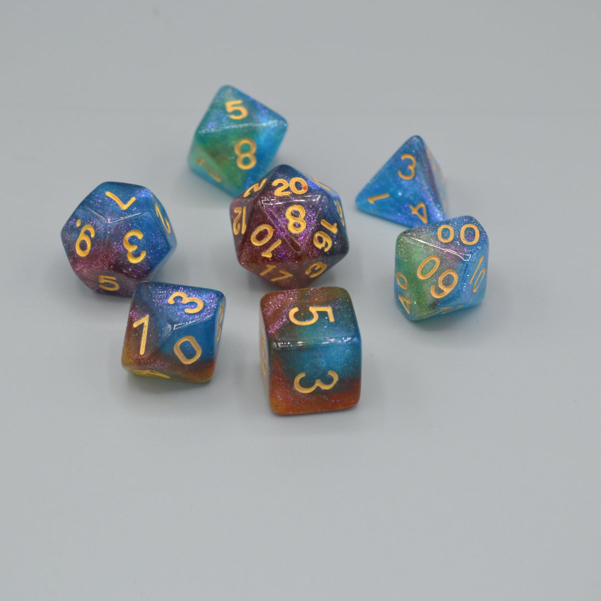 Set of 7 Dice Inspired by the Night Sky - Wildbot3d