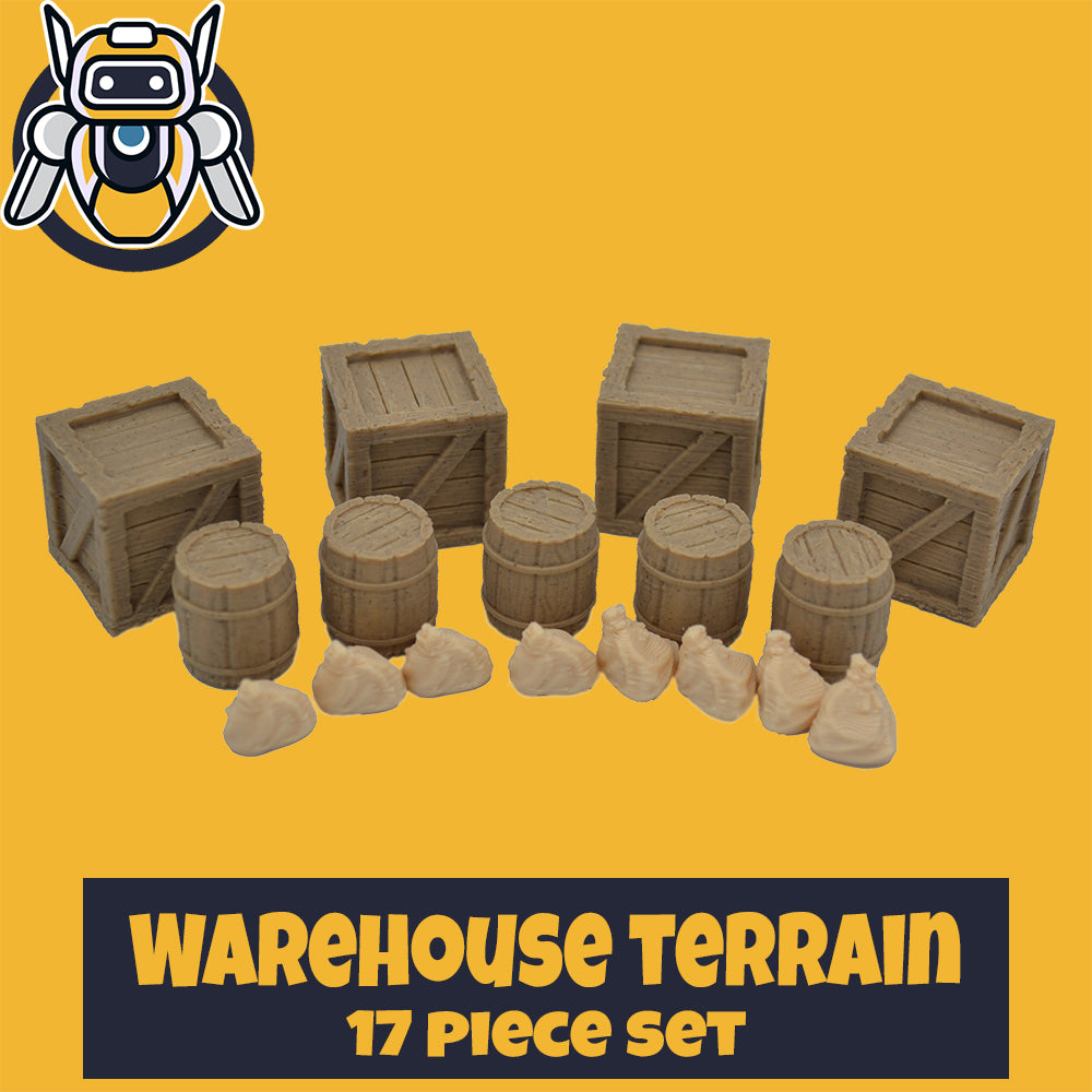 Warehouse Scatter Terrain - 28mm Scale - Wildbot3d