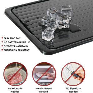 De-Freeze™ Instant Defrost Tray (No Electric Needed)
