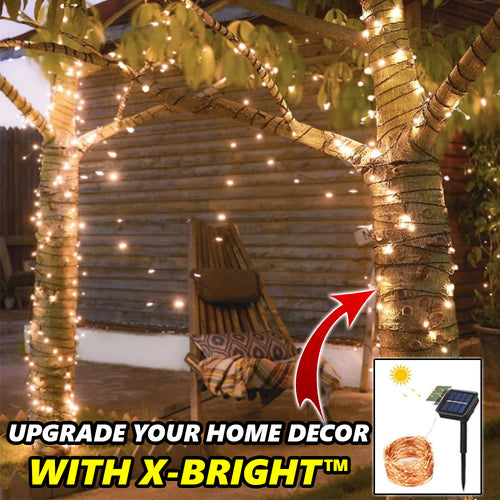 X-Bright™ Solar-Powered LED Fairy Lights