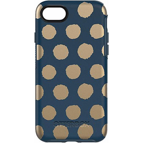 OtterBox Symmetry+Graphics Case iPhone 7 - Firefly Blue/Gold Dot