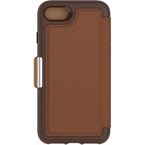 OtterBox Strada Wallet Flip Case iPhone 7 - Burnt Saddle Brown
