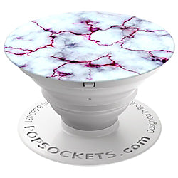 PopSockets Stand/Grip - Blood Marble White Gray Red