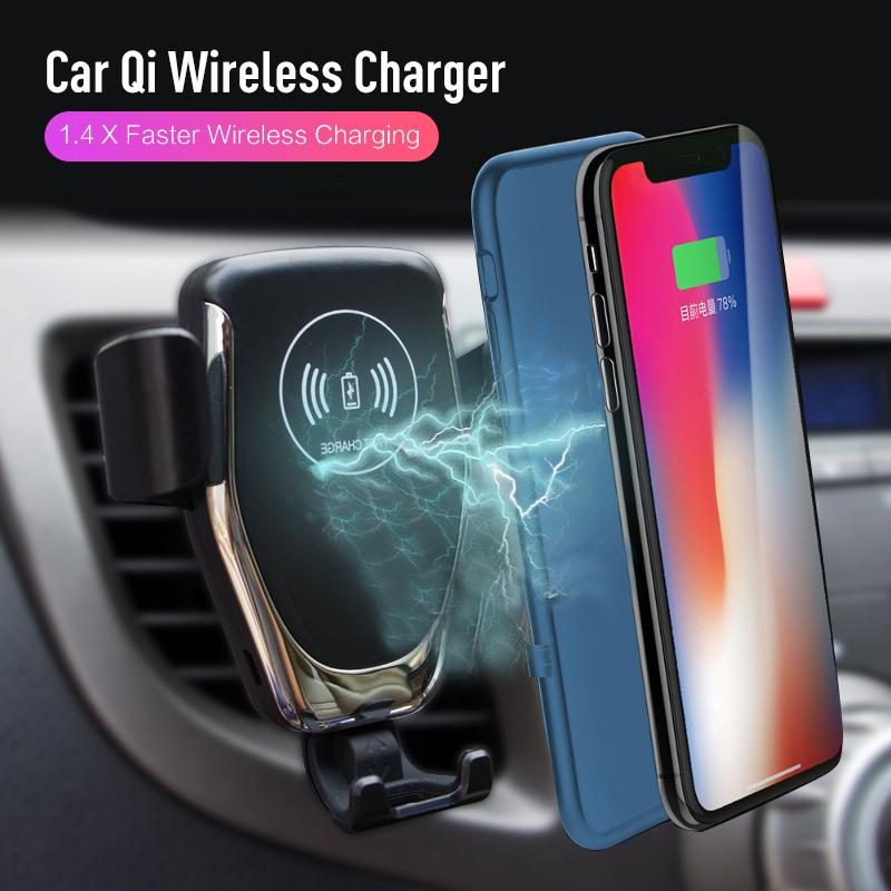 Automatic clamping Wireless Car Charger Mount