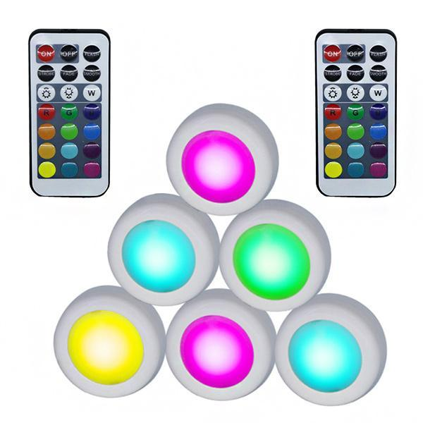 Colour-changing remote-controlled LED wireless lights