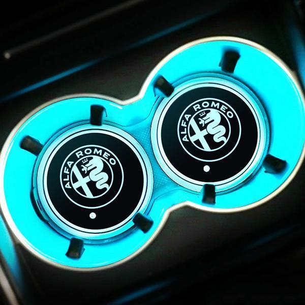(Only $9.99 TODAY) 7 Colors Led Changing Car Logo Cup Coaster(1PC)