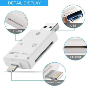 3-in-1 Flash Drive Mobile Card Reader