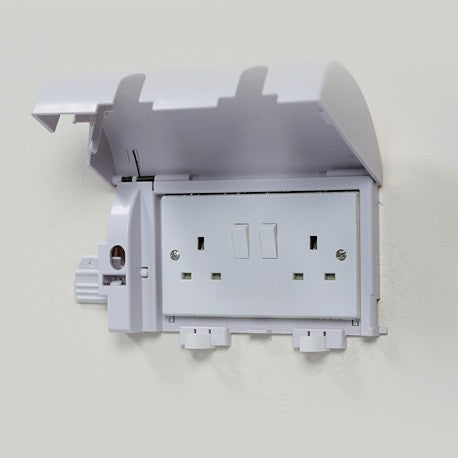 Socket Shield Twin Plug Socket Cover