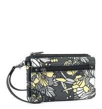 Slate Flower Blossoms Corin Flap Wallet by Sakroots