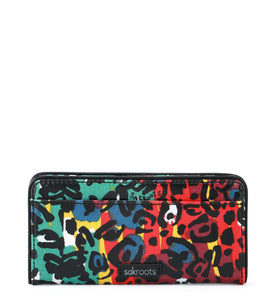 Multi Spotted Wildlife Slim Wallet by Sakroots