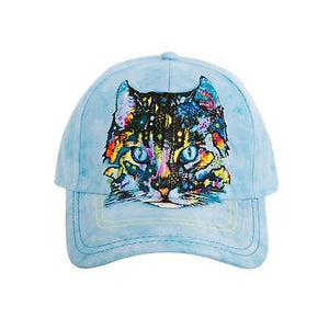 Unisex Ball Cap, Hypno Cat...by Dean Russo