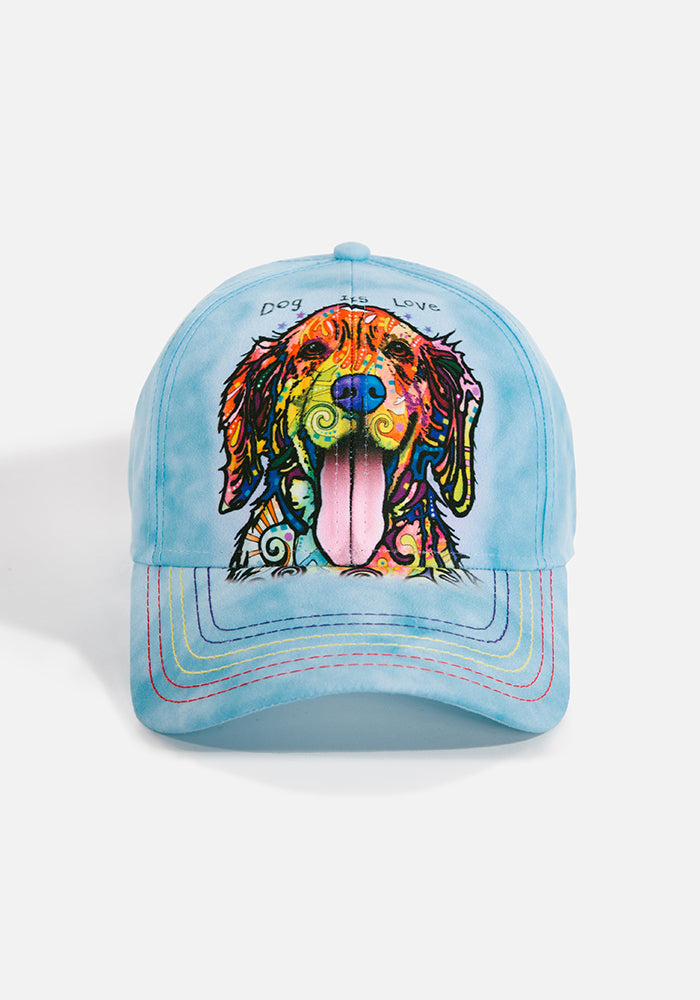 Unisex Ball Cap, Dog is Love by Dean Russo