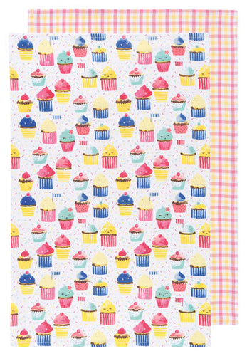 Cupcakes, Set of 2, Tea Towel