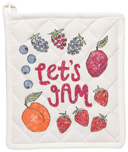 Let's Jam Potholder, Set of 2