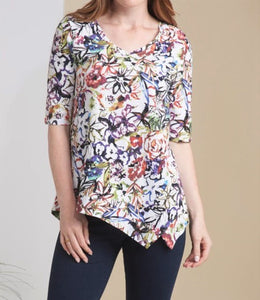 Painted Garden Cotton V-Neck by Habitat