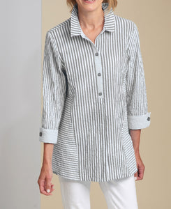 Bahama Stripe Illusion Tunic by Habitat